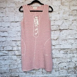 Max Edition Weekend Red and White Striped Dress